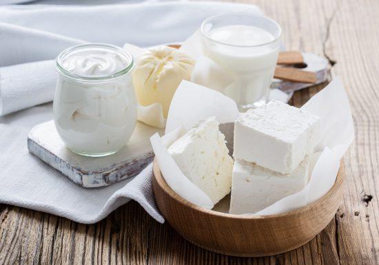 Quark und Käse